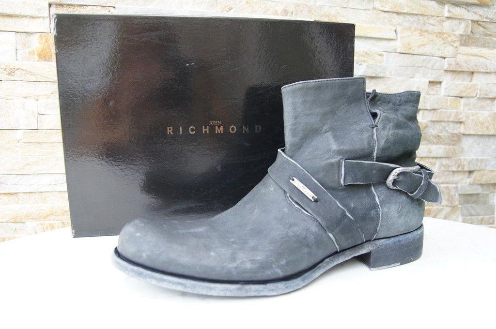 JOHN RICHMOND Gr 45 11 Stiefeletten Stiefel Stiefel Stiefel Schuhe Schuhes anthrazit neu 985f26