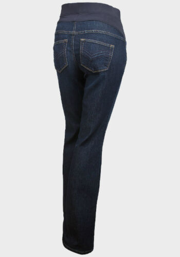 Maternity Mid Bump Bootcut Dark Blue Jeans Ex Store Sizes 8-22 New