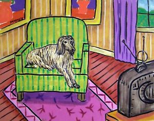 AFGHAN HOUND 8.5x11  art artist print animals impressionism