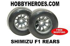 Shimizu 1/10 F1 Pre Mounted Rubber Tires Rear XG-572 FREE SHIPPING