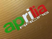 Aprilia Racing in Flag colours Track bike road fairing Decals Stickers PAIR#116
