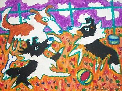SHELTIE American Idol Shetland Sheepdog Dog Pop Outsider Art Print 8 x 10 KSAMS