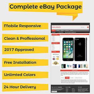 Mobile Responsive EBay Listing Template Auction Approved HTML - Free responsive ebay template