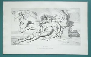 NUDE-Artist-Surrounded-by-Muses-Angels-1892-Victorian-Era-Print