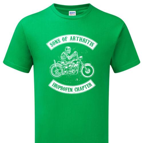 Sons of Arthritis Ibupofen Chapter T-shirt Skull Dri-Fit Biker Rider unisex Top
