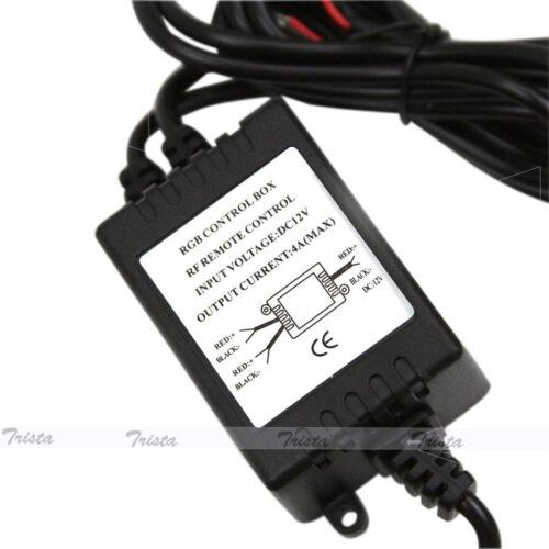 48W Dual-Output Wireless Remote Control Kit w// Strobe Solid Lighting Car LED Use
