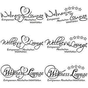 wellness lounge tattoo t r wand wc deckel toilette bad fliesen glas aufkleber ebay. Black Bedroom Furniture Sets. Home Design Ideas