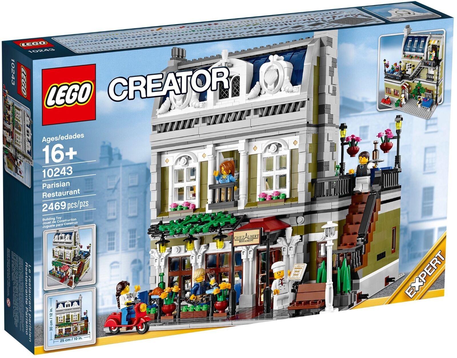 Lego restaurant parisien 10243 créateur, modulaire  DGSIM Neuf, Scellé  Livraison Gratuite