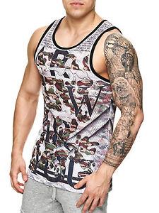 Wasabi-By-Studio-T-Shirt-Achselshirt-Muskelshirt-Netz-Tank-Top-Camouflage