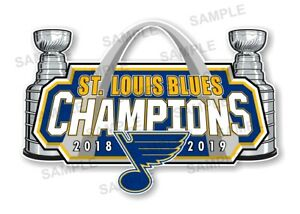 St Louis Blues 2019 Champions Precision  Cut  Decal