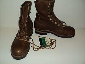 70d121f99f NEW Carolina Men s Size 7.5 E  172 Logger Boot 8 Inch Brown Steel ...