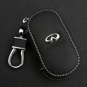 Genuine Leather Car Remote Key Chain Holder Case Bag Fit For Infinity Auto | eBay