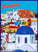 Santorini Island Greece Aegean Greek European Travel Poster Art Advertisement 2