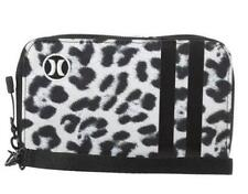 HURLEY New In Box Ladies Womens Clutch Purse Zip Wallet Black & White Leopard
