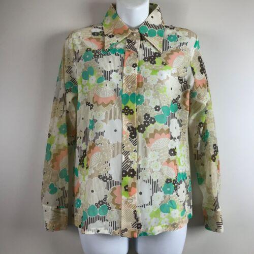 Vintage floral shirt 70/'s Size 36 FR