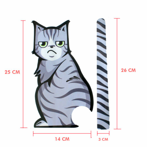 2 Pcs Cat Moving Tail Back Windshield Rear Window Wiper Car Stickers Decals HOT