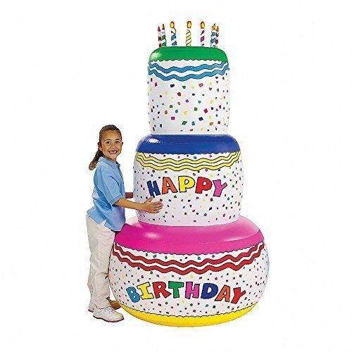 NEW Jumbo Happy Birthday Inflatable Birthday Cake Party Decoration