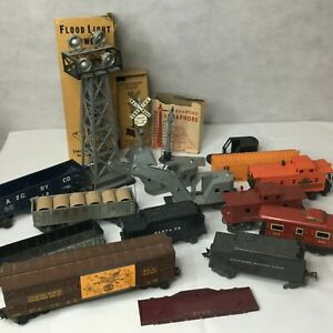 Vintage-Louis-Marx-Train-Stream-Line-Steam-O-Line-Lionel-Lot-12-Flood-Light