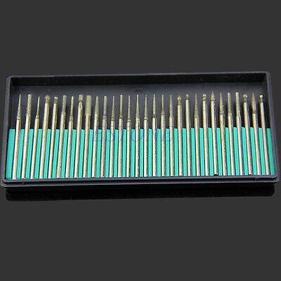 30PCS Diamond Burr Drill Bits Set For Engraving Carving Card Grinding Tool Kit
