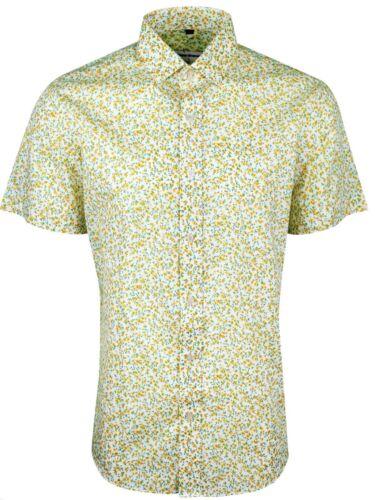 413 Homme Floral Imprimé Manches Courtes Décontracté ou Robe de Soirée Chemise £ 14.99 .