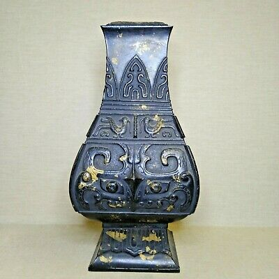 100% Wahr Vintage Chinese Bronze Vase (lamp), Early 20th Century.