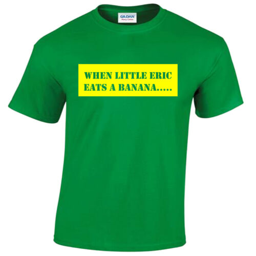 Bananaman T-Shirt Mens Funny retro cartoon tv show when little eric eats banana