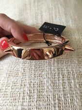 NEW CC SKYE LOVE SPIKE BRACELET in ROSE GOLD NWT