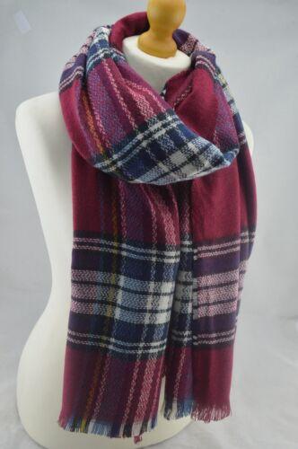 Inverno Tartan controllato Plaid sciarpa pashmina scialle caldo Wrap Stola Unisex Moda