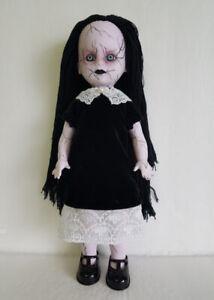 LIVING-DEAD-DOLL-CLOTHES-Gothic-Black-Velvet-amp-Lace-DRESS-Fashion-NO-DOLL-d4e