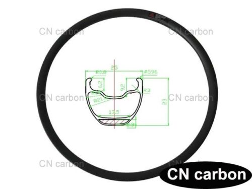 27.5 inch carbon Mountain bicycle rim 25mm widthx 23mm Tubeless compatible