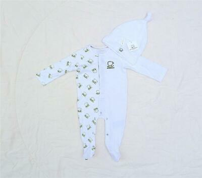Motivated Burberry Little Green Sheep White Babygrow & Hat All Sizes Stunning Rrp £140.00