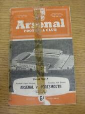 12/01/1957 Arsenal v Portsmouth  (torn/worn with Sellotaped repairs to covers, f