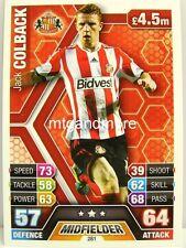 Match Attax 2013/14 Premier League - #281 Jack Colback - Sunderland