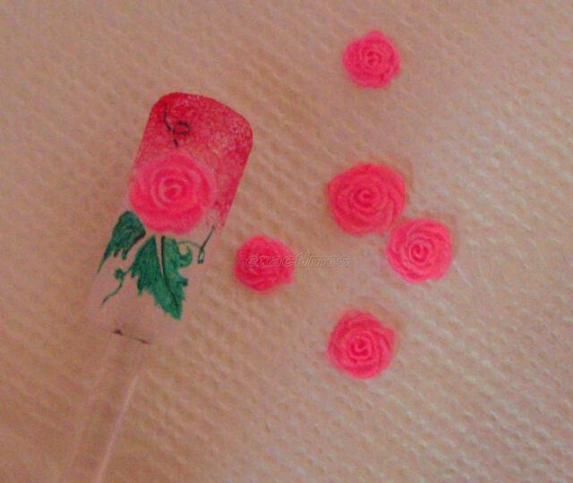 Rose Flower 3D Acrylic Mold DIY Decoration Professional Nail Art Tool 1pc