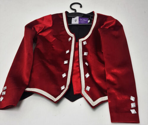 Red Budget Highland Dance Jacket child to adult sizes Scottish Brand new