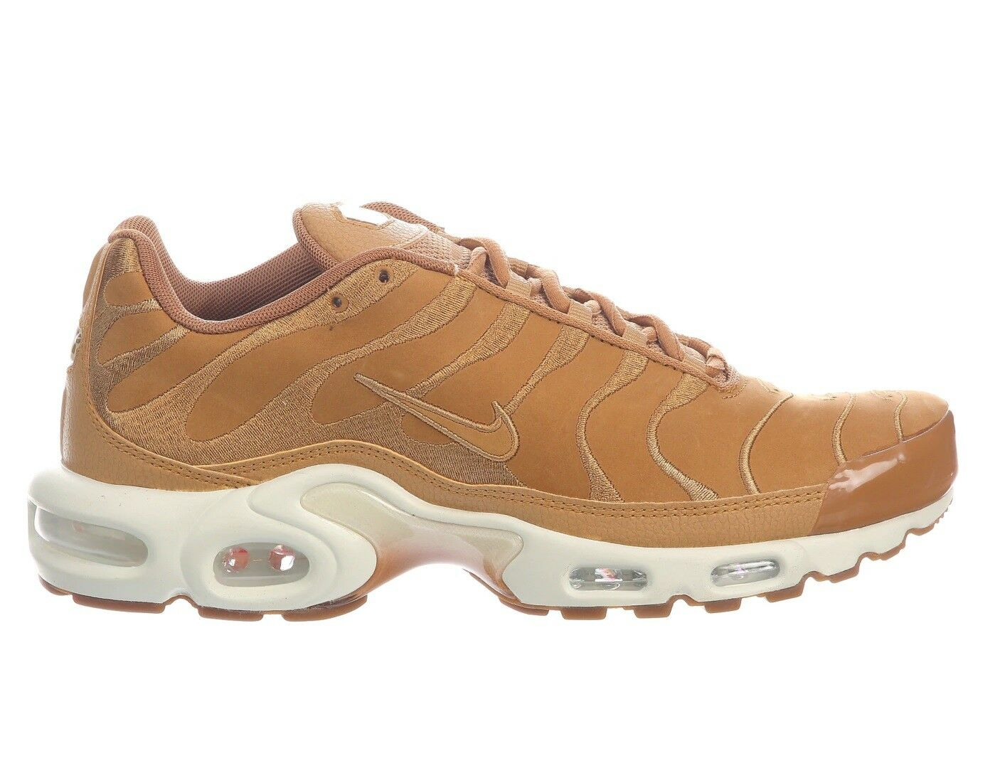 Nike Air Max Plus EF Mens AH9697-2018 Flax Sail Suede Running Shoes Comfortable Brand discount