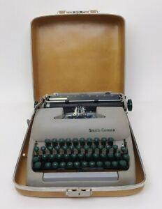 Vintage Smith Corona Sterling Typewriter w/Case For Parts/Repair Read Descriptn