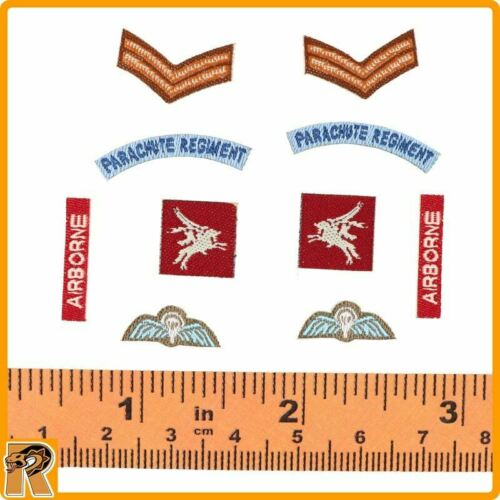 Charlie Red Devils Sargent-Airborne Patches Set 1//6 Scale DID Action Figures A