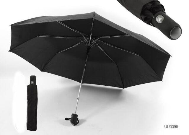 Drizzles Black Automatic Umbrella UU95