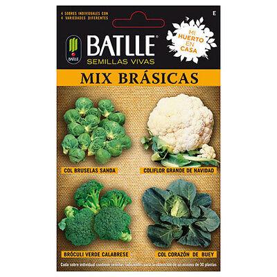 Semillas de Batlle - Ideal para Huerto Urbano (Mix Brasicas)