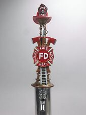 """FIREMEN'S  TRIBUTE"" (FIRE CHIEF #1)    BAR BEER TAP HANDLE  DIRECT FROM RON LEE"