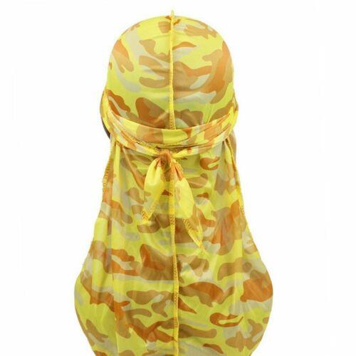 Silky Camouflage Durag Bandana Turban Hat Doo Rag Biker Headwear Headband New