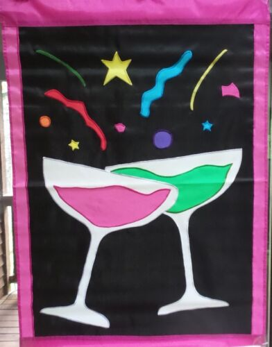 #22492 Celebrate Welcome Standard Applique House Flag by NCE