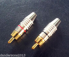 1 Pair Metal Red and Black Phono Plug Cinch Connector - RCA - Quality, Audio