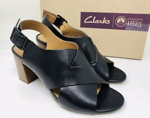 f4a81065894 Clarks Collection Women s Deva Janie Slingback Sandals Size 6 Black ...