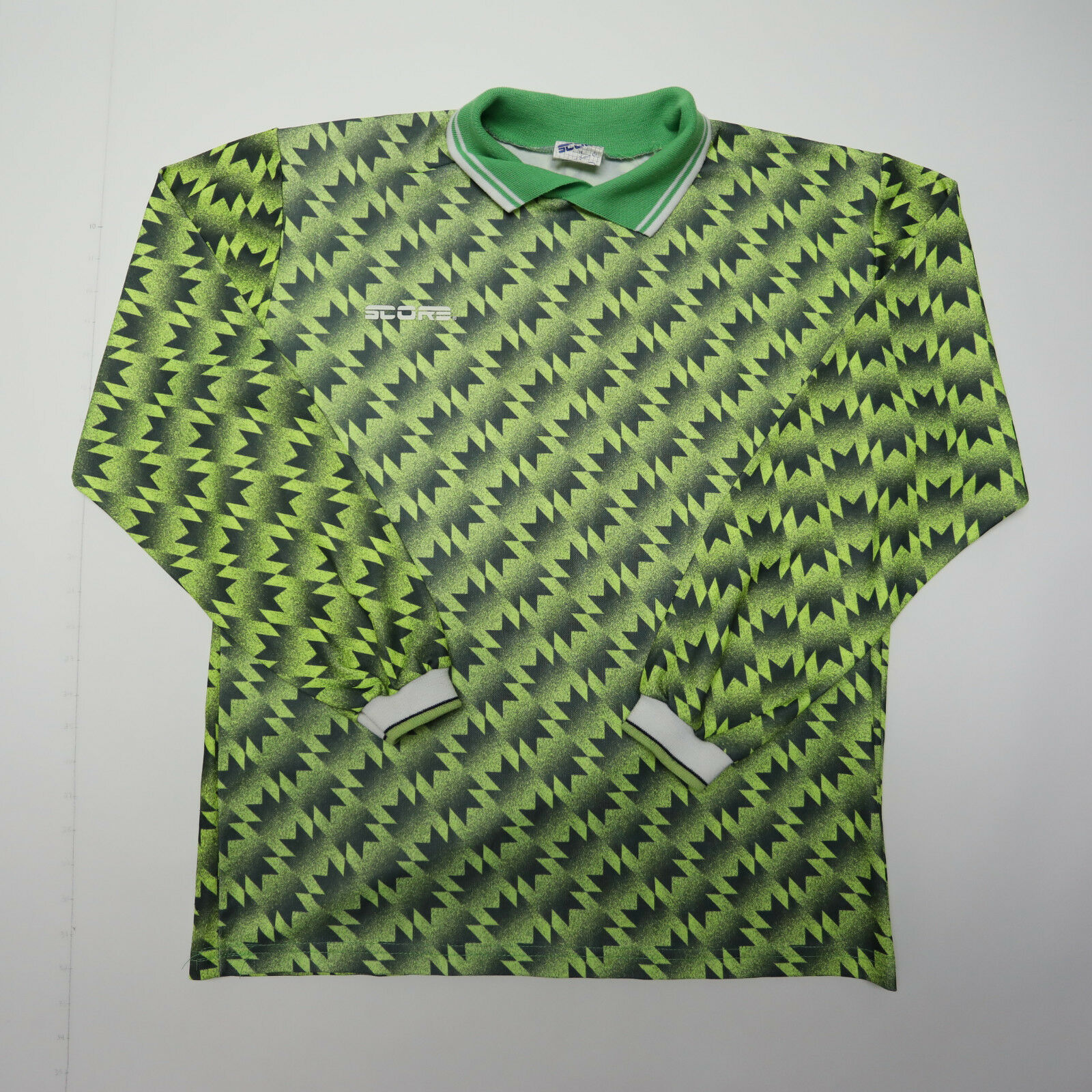Vtg Score Mens Green Manchester United Jersey Football Soccer Med Large