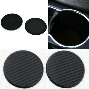 2X-antideslizante-estera-de-fibra-de-carbono-mirada-de-silicona-taza-de-agua-coche-Auto-Mat