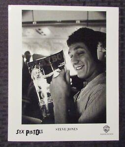 Image is loading SEX-PISTOLS-Steve-Jones-8x10-Warner-Bros-Press- c00db1083