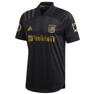 adidas-Men-039-s-LAFC-2020-Authentic-Home-Jersey-Black-Gold-FL9602