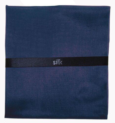 MENS NAVY SILK HANDKERCHIEF TOP POCKET SQUARE 100/% SILK HANKIE HANKY NAVY BLUE